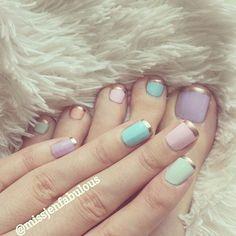 French Manicure in Gold Tip @missjenfabulous