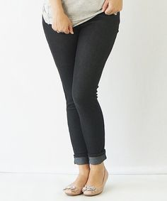 Look at this KISSmeMINT Black Jeggings on #zulily today!
