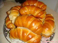 Рогалики из теста для халы Hot Dog Buns, Hot Dogs, Pumpkin, Bread, Vegetables, Recipes, Food, Cookies, Pumpkins