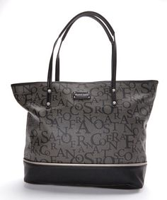 This Light Black Catherine Tote by Franco Sarto is perfect! #zulilyfinds