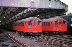 1938 Tube Stock in Croxley Green depot Vintage London, Old London, London Transport, Public Transport, London Underground Train, Tube Train, Abandoned Train, S Bahn, Old Trains