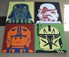 Canvases art... So hope I have kids some day, this would be epic to hang on their walls.