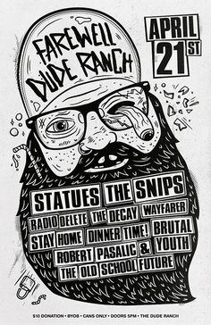GigPosters.com - Statues - Snips, The - Radio Delete - Decay, The - Wayfarer - Stay Home - Dinner Time! - Brutal Youth - Robert Pasalic & Th...
