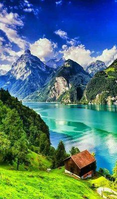 Beautiful Nature Pictures, Beautiful Nature Wallpaper, Nature Photos, Amazing Nature, Beautiful Landscapes, Landscape Photography, Nature Photography, Places In Switzerland, Alps Switzerland