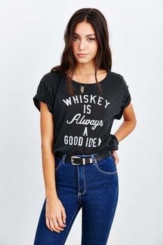 Truly Madly Deeply - T-shirt « Whiskey Is Always »