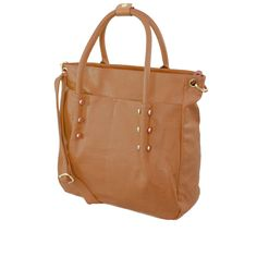 Tan Studded Tote