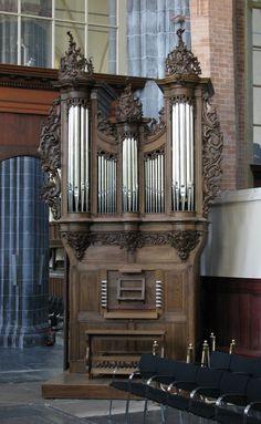 Wonderful Choir Organ (Koororgel) organ in Martinikerk, Groningen, Netherlands, by Le Picard, built 1742.