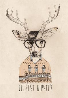 D E E Rest Hipster | #Art Print