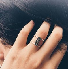 📌 Please be aware: based on shipping timeframe, we can no longer delivery before Christmas with standard shipping option. Thank you. ------------------ Initial Ring, Simple Promise Ring For Her, For Girlfriend handmade by JewelryRB combines modern design that will make a great