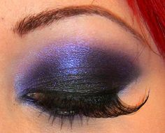 Saturated Purple and Black #Makeup