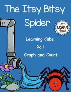 Itsy Bitsy Spider Learning Cube, Roll, Graph and Count