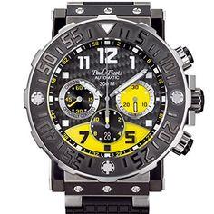 Paul Picot P4030.TNG.5010.4301 - Reloj para hombres, correa de goma color negro