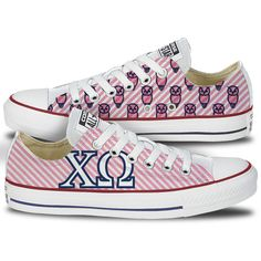 Chi Omega Converse All Star Low Top | Chi O Chucks – Tready Shoes