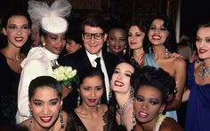 YSL Surrounded by models