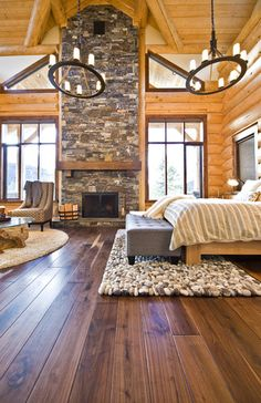 Like the two tones of the wood from the wall to the floor