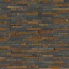 Get an excellent look to your living space by selecting this MSI Three Rivers Gold Ledger Corner Natural Slate Wall Tile. Slate Wall Tiles, Slate Flooring, Stacked Stone Panels, Easy Backsplash, Buy Tile, Gold River, Fireplace Surrounds, Slate Fireplace Surround, Three Rivers
