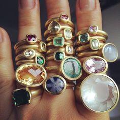 Choosing Diamond and Gemstone Rings Gemstone Jewelry, Jewelry Rings, Jewelery, Silver Jewelry, Silver Earrings, Silver Ring, Rock Jewelry, Gold Jewellery, Big Rings
