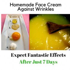 It is exciting that you can actually make your own personal face cream to fight wrinkles. The preparation of the cream is quite simple and the effects are amazi #FaceCreamForWrinkles