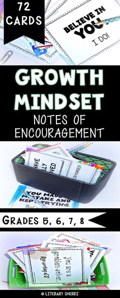 Encourage a growth mindset in your class with 72 notes that encourage students to believe they can learn anything if they work hard. Engaging, student-friendly, and ready to print, cut, and go! #growthmindset #growthmindsetmiddleschool #classroommanagement