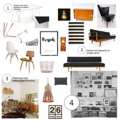 Moodboard for Brussels based writers couple. #monochrome & #copper