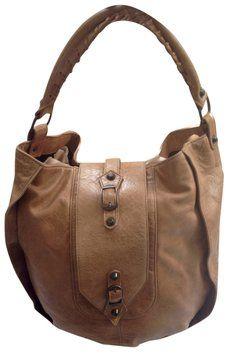 9be6d910cc20 Balenciaga Rare   Discontinued Shrug Brown Chevre Leather Hobo Bag