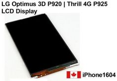 NEW LG Optimus 3D P920 and Thrill 4G P925 LCD Display Screen Replacement Parts Lg Parts, Screen Replacement, Display Screen, 3d
