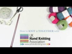 How to knit two together. - YouTube