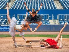 Ballet meets baseball #ballet #baseball
