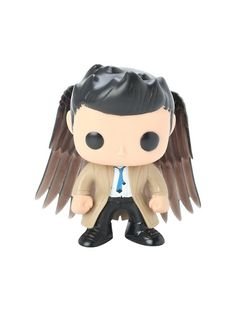Television Castiel With Wings Vinyl Figure Hot Topic ExclusiveFunko Supernatural Pop! Television Castiel With Wings Vinyl Figure Hot Topic Exclusive, Supernatural Pop, Supernatural Anti Possession, Supernatural Merchandise, Castiel, Crowley, Funko Toys, Funko Figures, Pop Toys, Pop Television