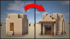 Minecraft: How To Remodel A Desert Village Hut