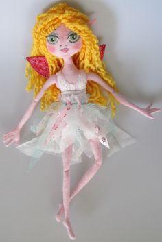 FAIRY Rag Doll Child friendly soft dollooak by Kaeriefaerie52, $45.00