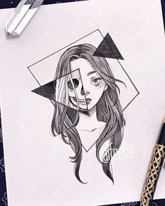 art sketchbook Ana Clara Viana (ana_claaraviana) I - Dark Art Drawings, Pencil Art Drawings, Art Drawings Sketches, Easy Drawings, Tattoo Drawings, Tattoo Sketches, Tattoos, Random Drawings, Tumblr Drawings