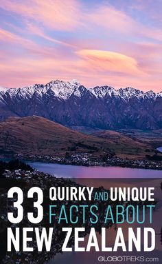 New Zealand is a stunning country with beautiful landscapes and a rich culture, but even more fascinating are these 33 quirky and fun facts about New Zealand. New Zealand Itinerary, New Zealand Travel Guide, Travel Guides, Travel Tips, Travel Articles, Travel Stuff, New Zealand Adventure, New Zealand Holidays, Unique Facts