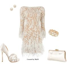 FEATHER DRESS #1, created by marion-fashionista-diva-miller on Polyvore