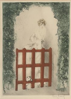 Louis Icart 'Red Gate' 1925
