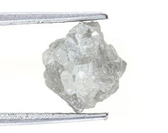 2.42 Ct Natural Loose Diamond Raw Rough Natural Diamond Silver Sparkling Color