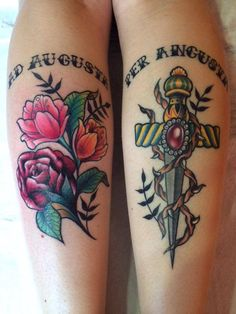 Tattoo artist: Valentina Sala  Tatuaggio traditional http://www.subliminaltattoo.it/prodotto.aspx?pid=08-TATTOO&cid=18  #pugnale   #tatuaggioneotraditional   #subliminaltattoofamily   #valentinasala   #rose   #tattooartist   #tatuaggio   #tattoo