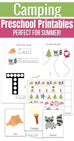 Bring the fun of camping in your school day with these fun camping preschool printables. Use the fun camping themed printables to learn math, counting, fine motor skills and more, perfect for any preschooler who loves camping. #camping #homeschoolpreschool #preschoolactivities #summerlearning #LivingLifeandLearning Free Preschool, Preschool Printables, Preschool Learning, Preschool Activities, Free Printables, Kindergarten Sight Word Games, Counting Worksheets For Kindergarten, Fun Worksheets For Kids, Camping Songs For Kids