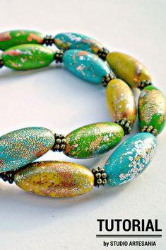 Tutorial: Cheerful Crackle Beads   Polymer Clay   CraftGossip   Bloglovin'