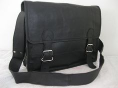 Mens Leather Messenger bag Black Leather Satchel Leather Briefcase Women Unisex leather handbag satchel leather portfolio bag leather bags. $95.00, via Etsy.