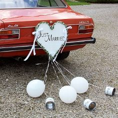 Just Married Heart Car