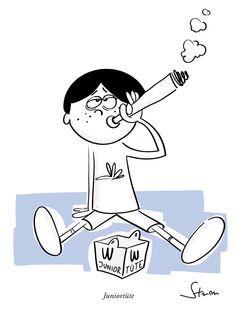 Juniottüte #cartoon #humor #kiffer