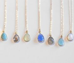 {Small Stone Pendants} Charlene K - so many pretty colours to choose from!