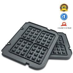 Amazon.com - Paksh / Cuisinart GR-WAFP Non Stick Waffle Maker Removable Plates for Griddler - Best Waffle Maker, Tobacco Smoking, Eyebrow Tattoo, Natural Brown, Natural Hair Styles, Plates, Griddles, Lighter, Vehicle