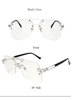 US  9.3  Coodaysuft Unique Brand Designer Sunglasses Transparent 2017 New  Fashion Sun Glasses wear Lady Female Men Women Cool-in Sunglasses from  Apparel ... 374883027d