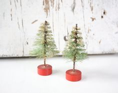 Bottle Brush Christmas Trees
