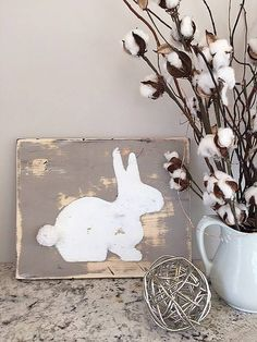 bunny stencil decor