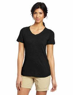 Exofficio Women's Exo Java Tech Short Sleeve V-Neck Tee - (3 oz) Light weight, quick drying, and it has a hidden pocket.