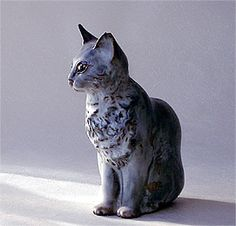Ceramic Cat Sculpture designed by Christine A Tupper for Andersen Studio of Maine