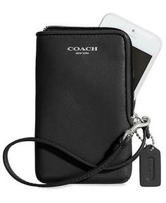 Gifts Under $75: A commuters best friend, portable tech case with wrist strap and pockets from Coach